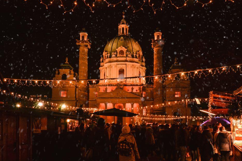 The Art Advent Christmas Market on Karlsplatz, Vienna