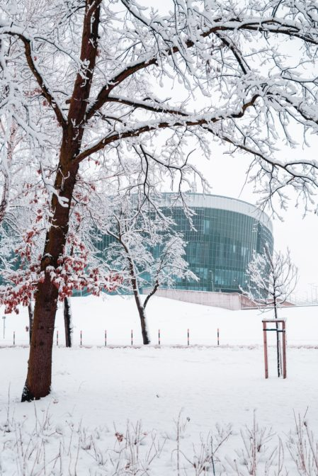 Arena Gliwice in winter time
