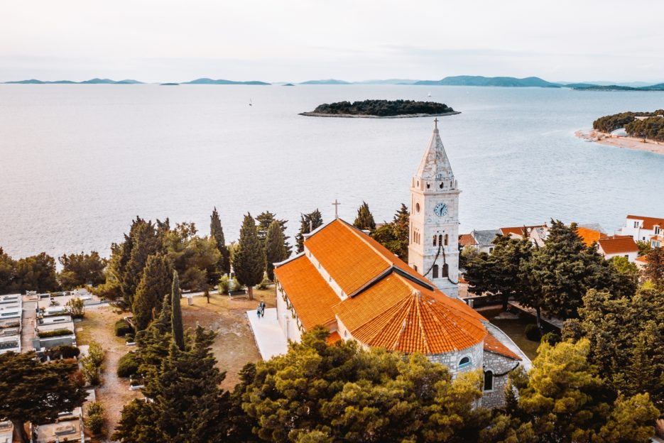 Crkva Sv Jurja, the Church of St. George, Primosten, Croatia