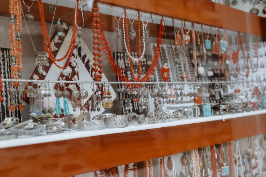 Croatian jewelry in Primošten, Dalmatia
