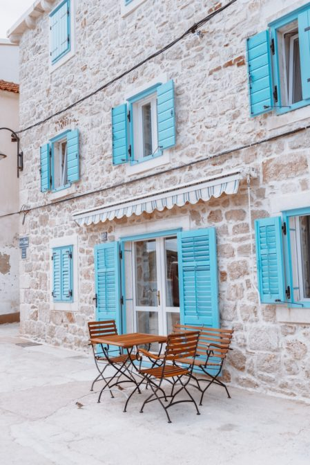 A lovely stone house in the old town of Primošten, Croatia