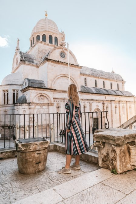 The Šibenik Cathedral (Katedrala sv. Jakova) is one of the most beautiful churches in Croatia