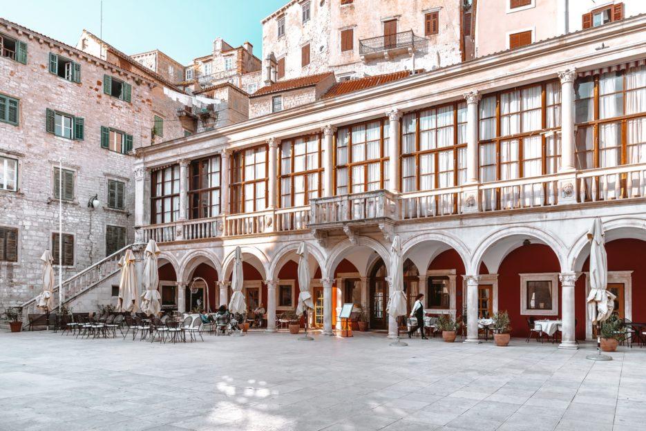 The Town Hall in Šibenik, Trg Republike Hrvatske, Croatia