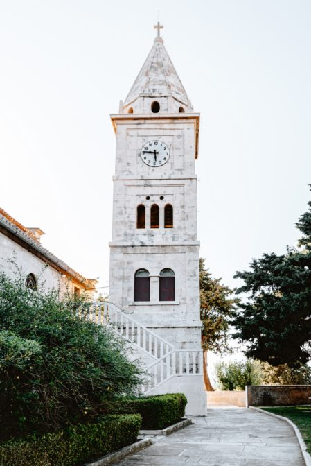 The Church of St. George (Crkva Sv. Jurja), one of the best things to see in Primošten, Croatia