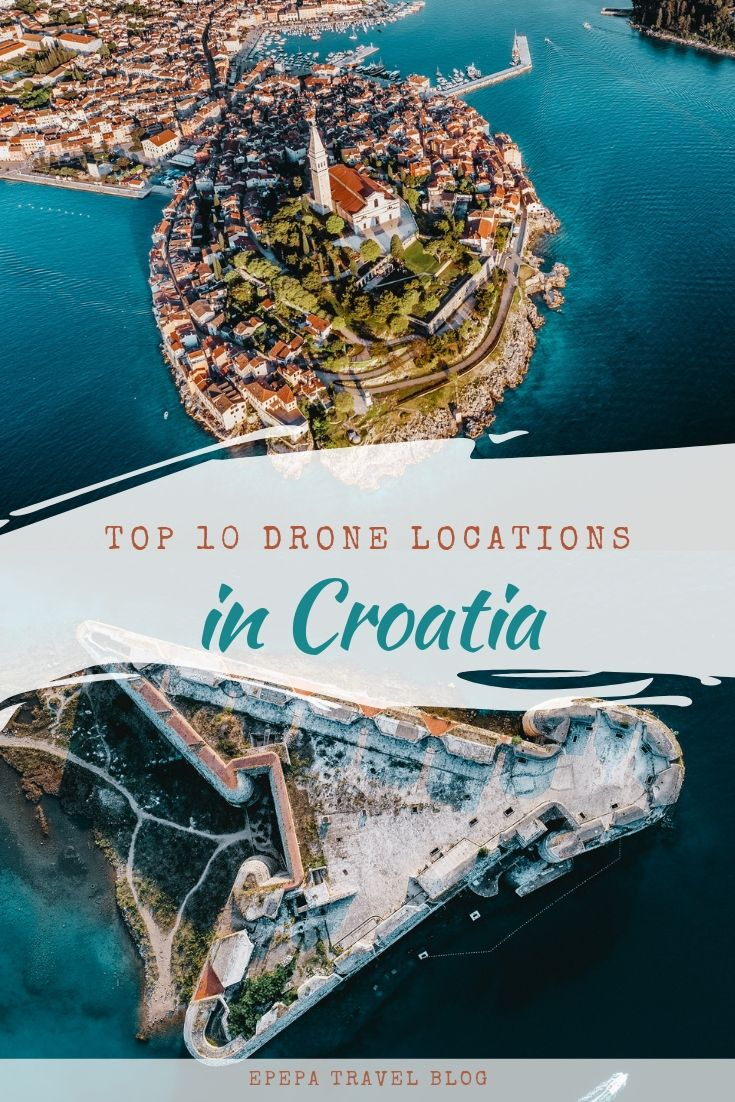 Top 10 drone photography locations in Croatia