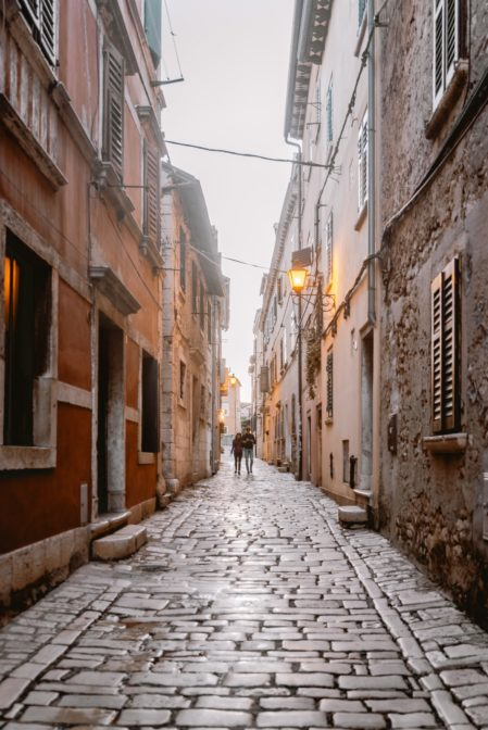 Walking around the old town is the best thing to do in Rovinj, Croatia
