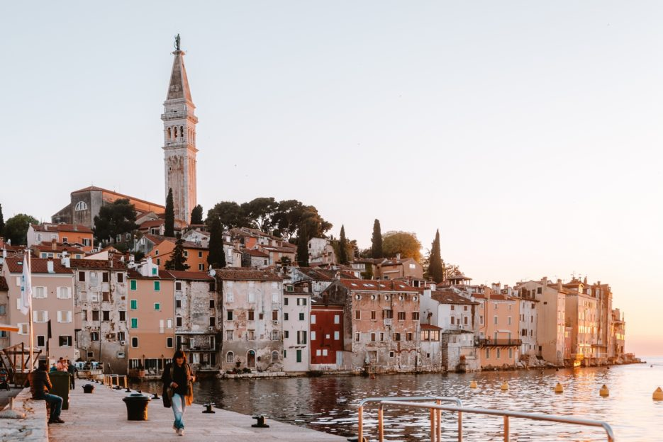 Watching beautiful sunsets in one of the best things to do in Rovinj, Croatia