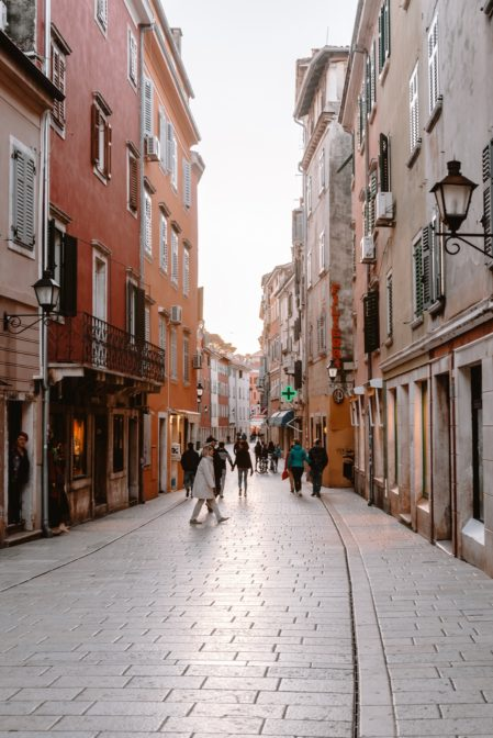 Carera, a shopping street in Rovinj, Croatia