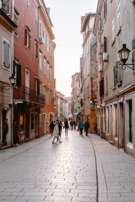 Carera, a shopping street in Rovinj, Croatia