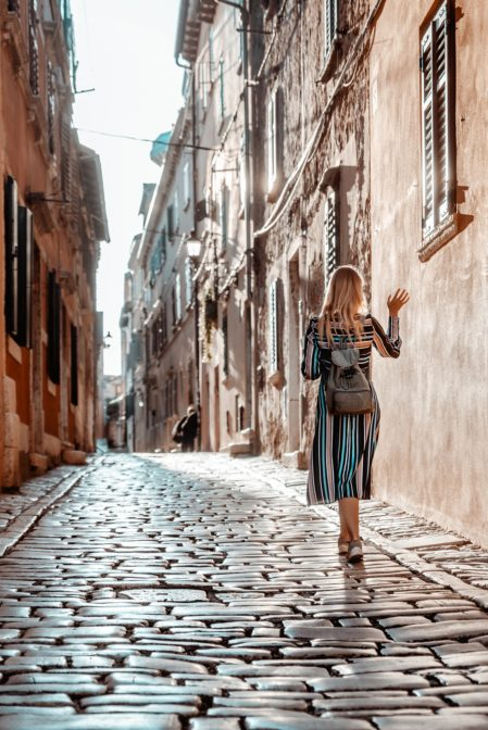One of the best things to do in Rovinj is to walk its romantic narrow streets.