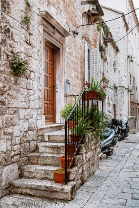 One of the most instagrammable places in Trogir, Croatia
