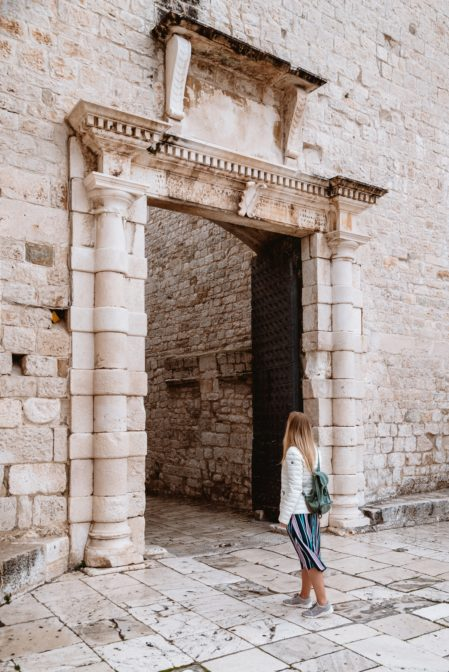 The Southern City Gate (Južna Gradska Vrata) which is also called the Sea Gate, Trogir, Croatia
