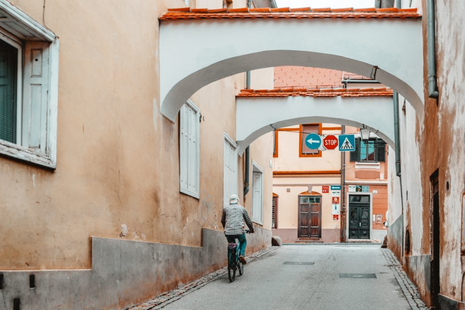 Watching the normal everyday life of local people is one of the best things to do in Ptuj, Slovenia