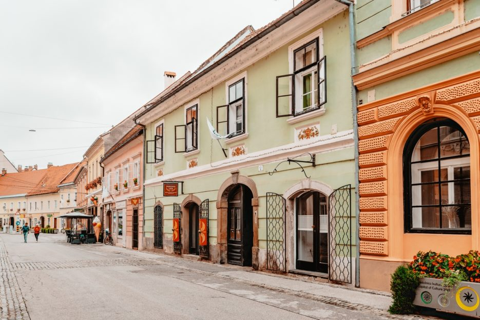 One of the best things to do in Ptuj is just take a walk around the old town and admire the lovely architecture