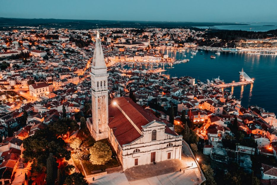 The Church of St. Euphemia in Rovinj, Croatia
