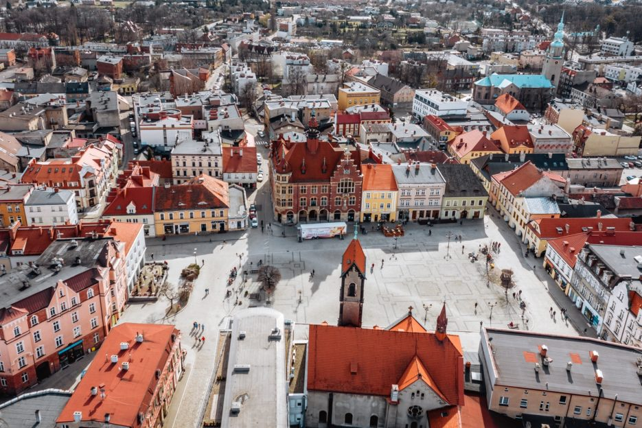 Tarnowskie Góry, one of the most beautiful cities in Silesia, southern Poland