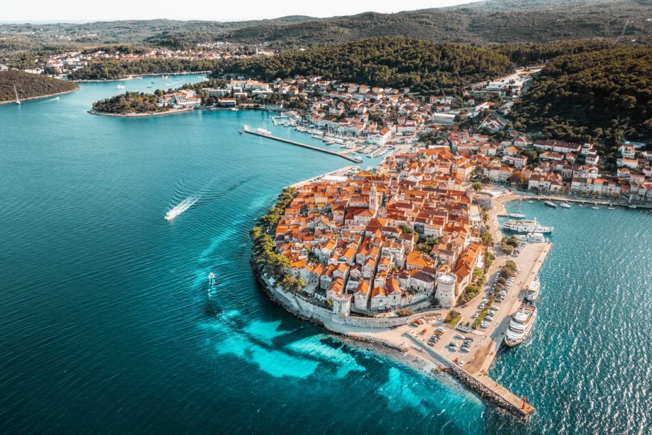 Korčula from above - the aerial drone photo of one of the most beautiful places in Croatia