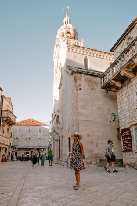 Saint Mark's Cathedral in a must-see place in Korčula, Croatia