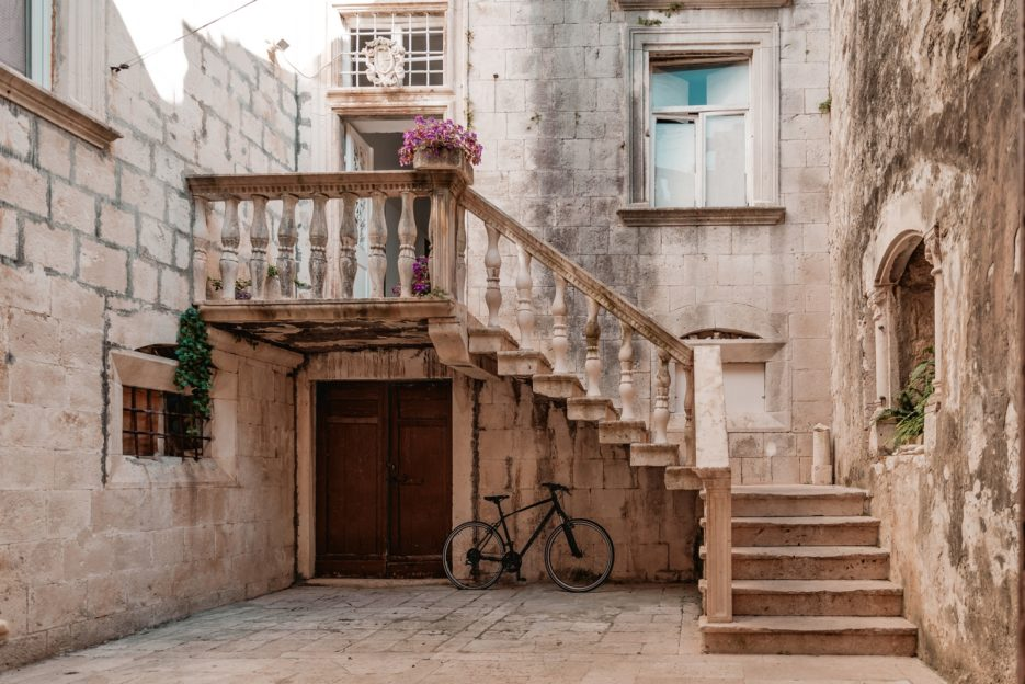 Beautiful architecture in Korčula Old Town, Croatia