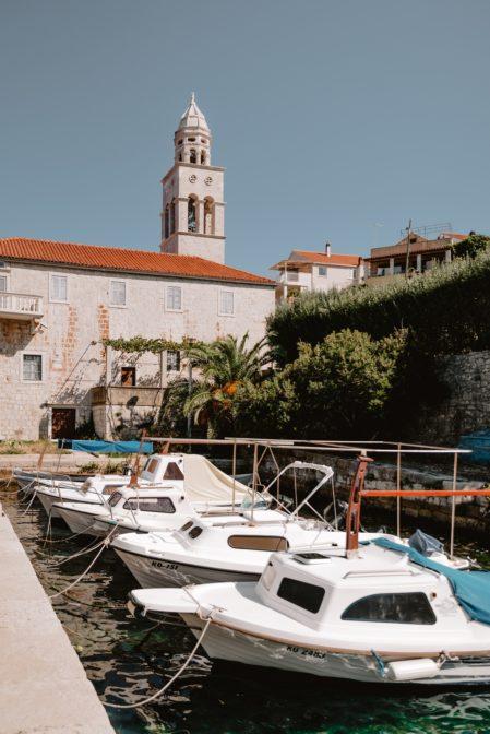 A small port near St. Nicholas' Monastery (Samostan Svetog Nikole), Korčula