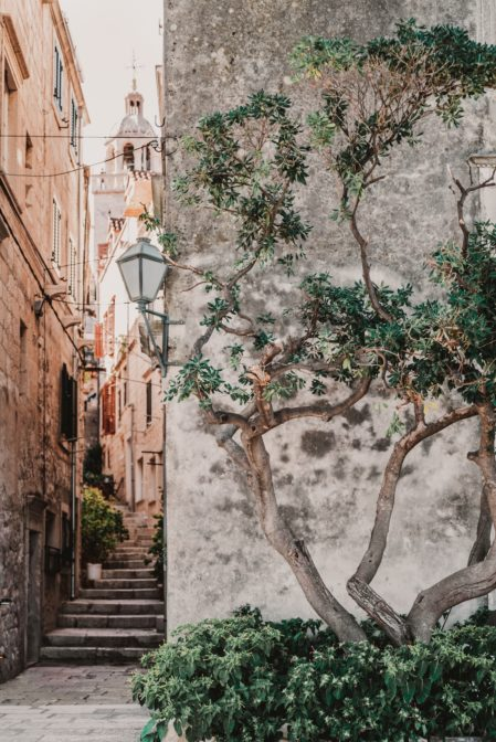 Walking the winding streets is one of the best things to do in Korčula Old Town, Croatia
