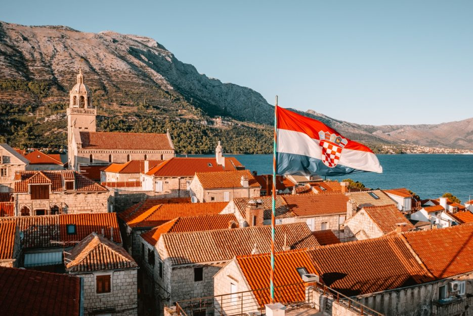 The orange rooftops of Korčula Town which looks a bit like little Dubrovnik
