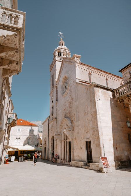 Saint Mark's Cathedral (Katedrala sv. Marka) is one of the best things to see in Korčula Old Town, Croatia