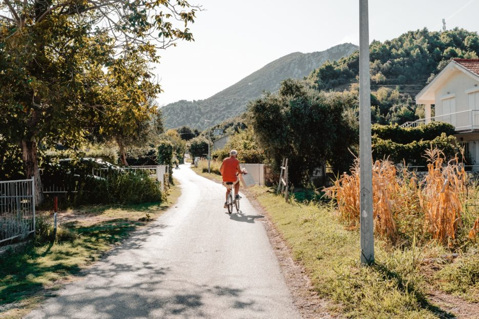Exploring the village by bike is one of the best things to do in Žuljana, Croatia