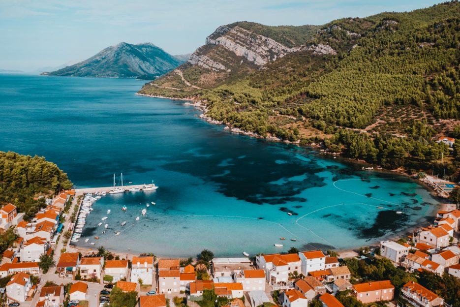 The turquoise sea color and beautiful landscapes make Žuljana a hidden gem of Pelješac, Croatia