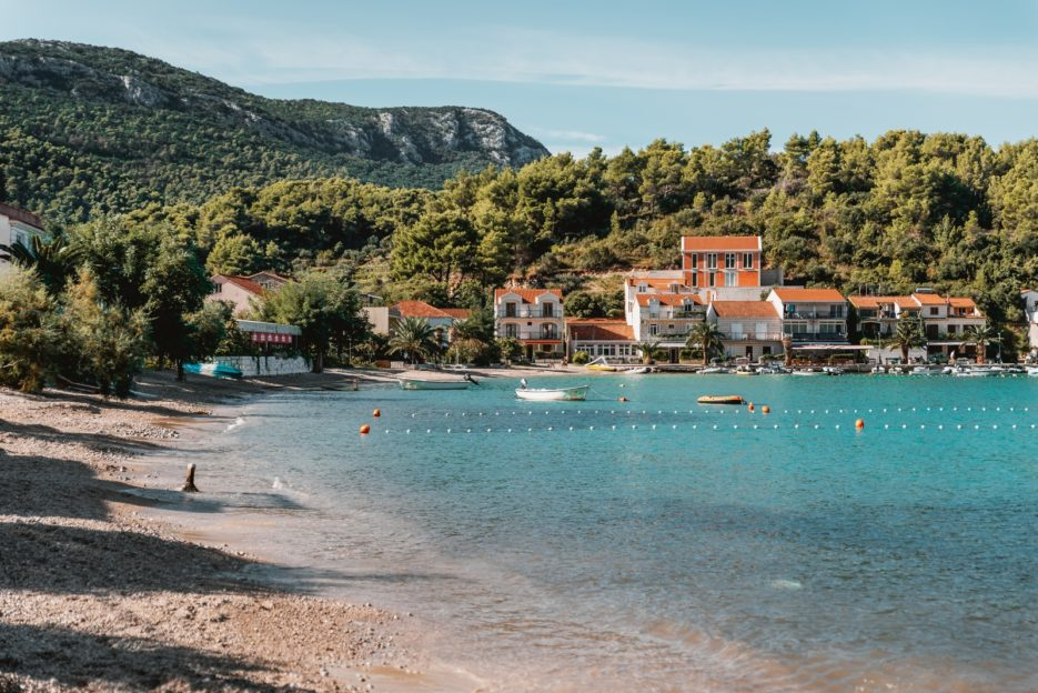 Sandy beach in Žuljana, Dubrovnik-Neretva County, Croatia