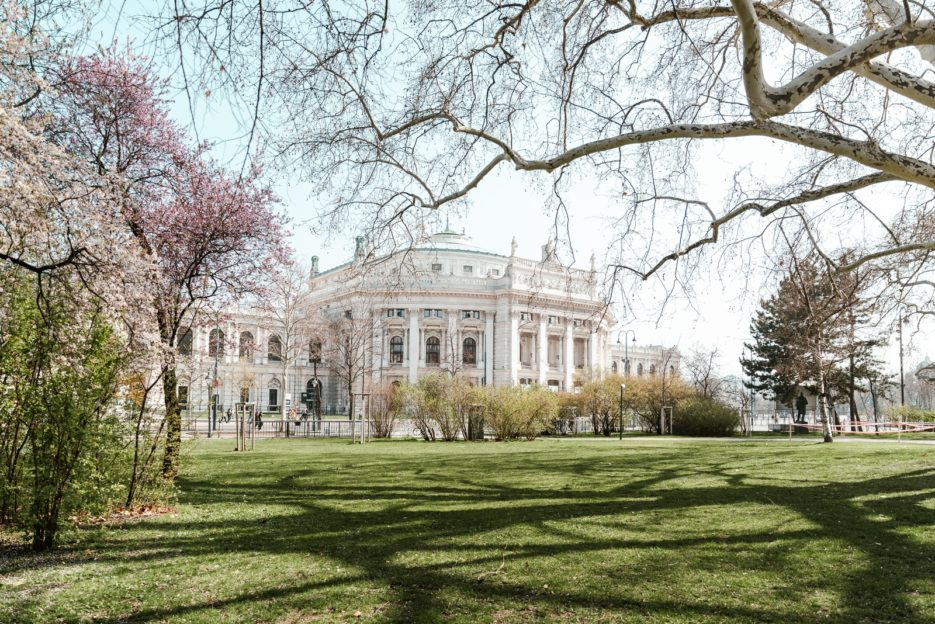 The Burgtheater seen from Rathauspark, Vienna