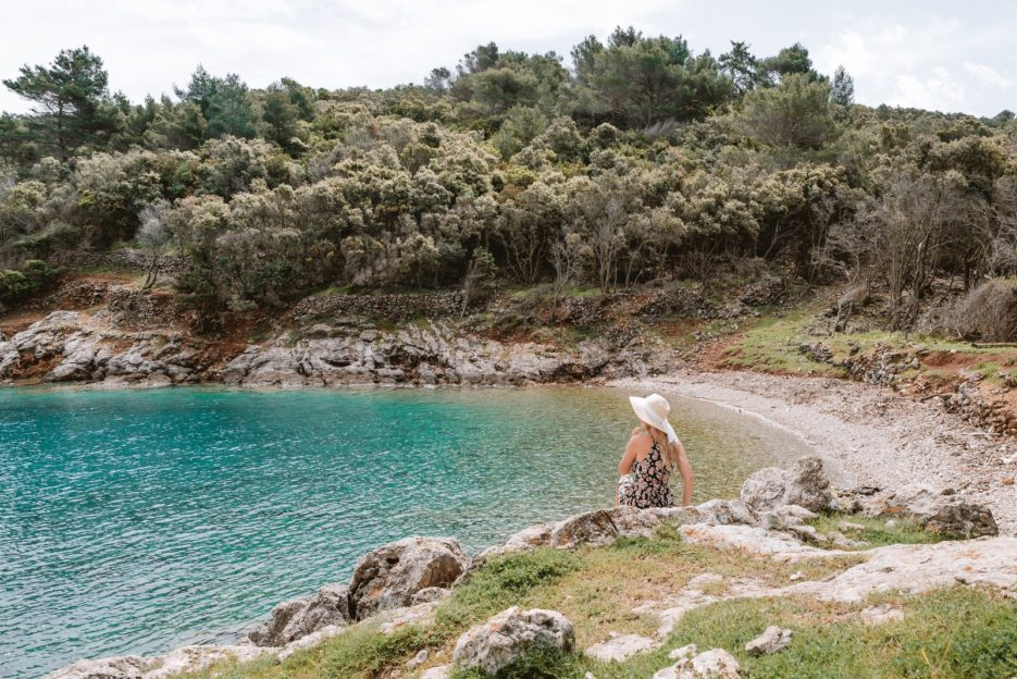 Jamna Beach, the most beautiful secret beach near Veli Lošinj, Croatia