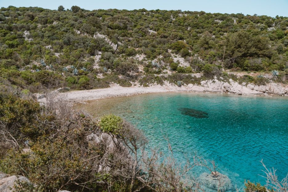 Kriška Beach, a secret beach near Veli Lošinj, Croatia