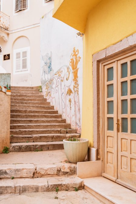 Stairs to the Fritzi Palace - Museum of Lošinj