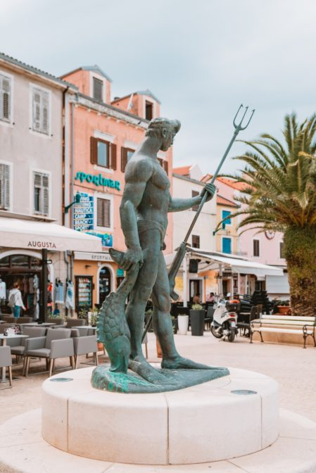 The main square in the port of Mali Lošinj, Croatia