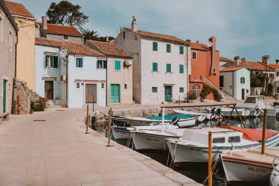 The fishing port of Rovenska, one of the best things to see in Veli Lošinj, Croatia