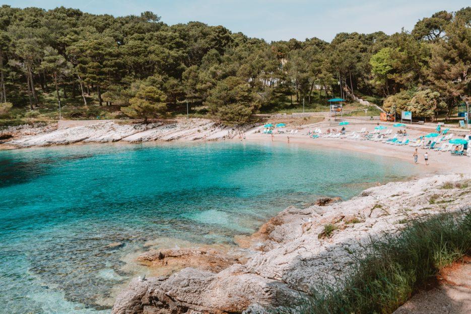 Veli Žal Beach in Sunčana Uvala (Sunny Bay), Mali Lošinj, Croatia