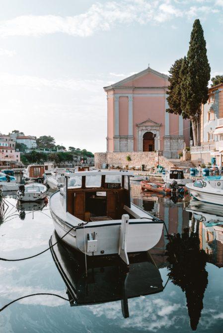 The port of Veli Lošinj, Kvarner Bay, Croatia