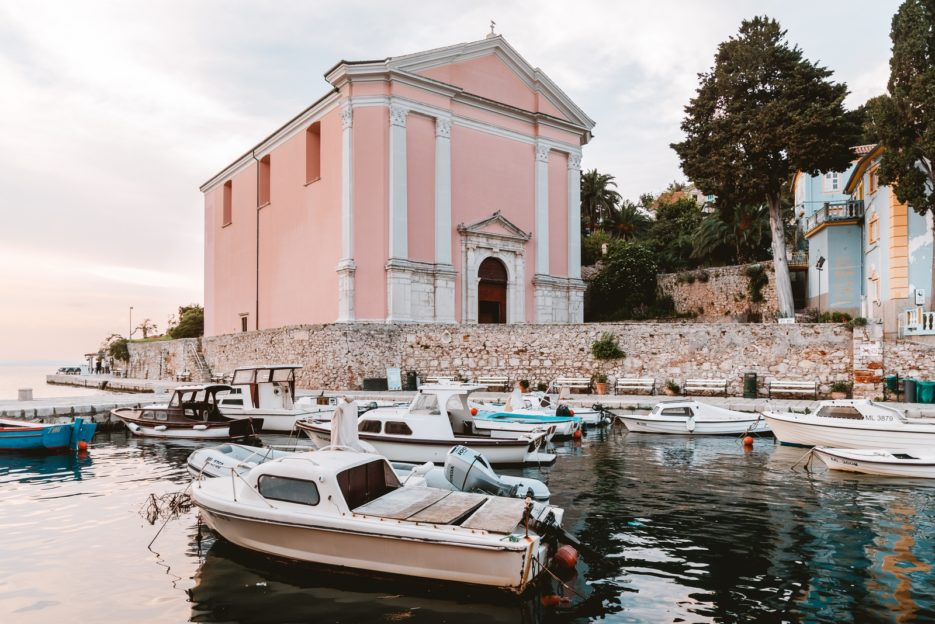 The parish church of St. Anthony the Abbot (Crkva sv. Antuna Opata) in Veli Lošinj, Croatia