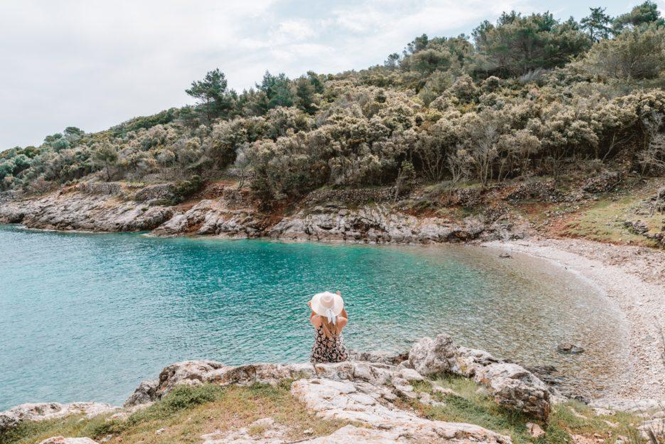 Jamna Beach, a secret beach near Veli Lošinj, Croatia