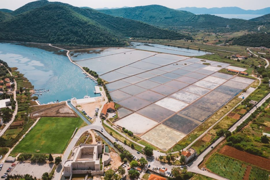 Solana Ston, Pelješac Peninsula, Croatia - the oldest active salt pans in the world