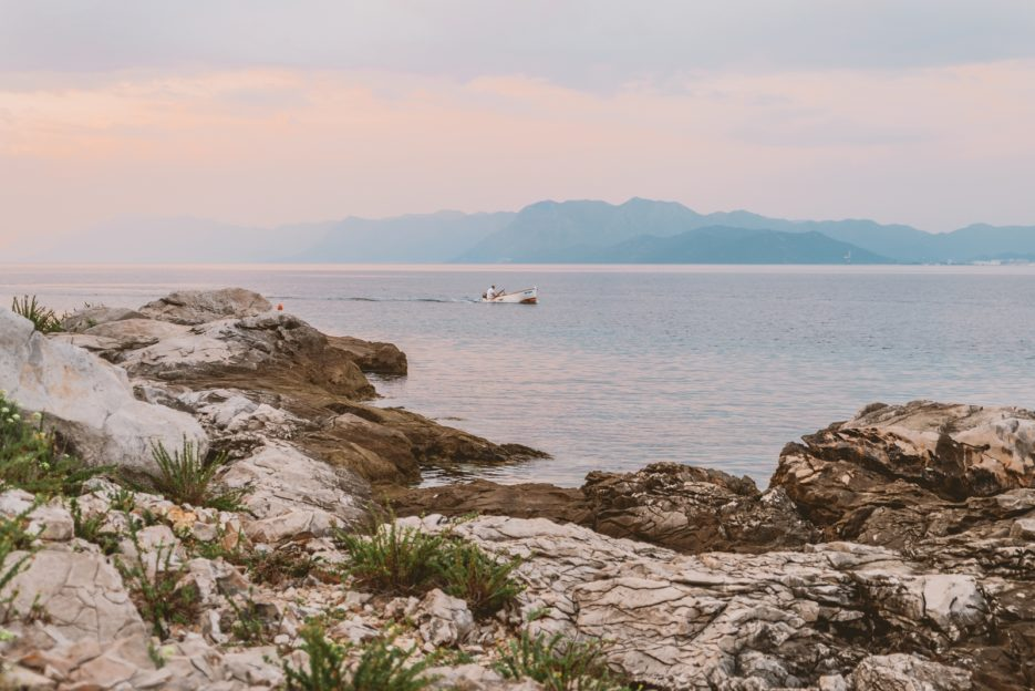 The Small Sea (Malo More), a bay between the Pelješac Peninsula and the Croatian mainland