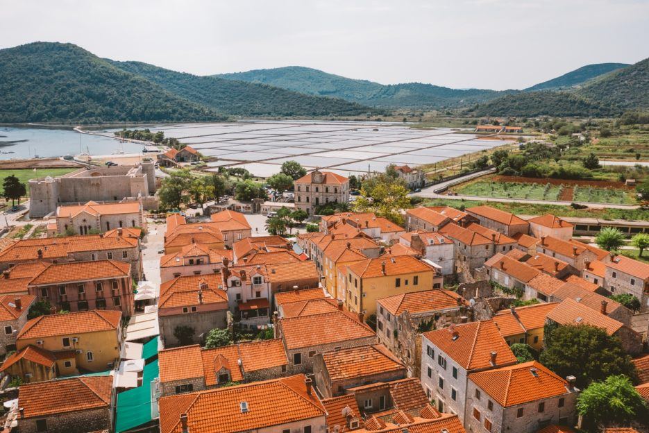 Ston, Pelješac Peninsula - the medieval town in South Dalmatia with the oldest salt pans in the world