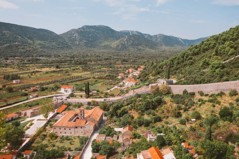 St. Nicholas Church (Crkva, Sv. Nikole) in Ston and the longest fortifications in Europe, Pelješac Peninsula, Croatia